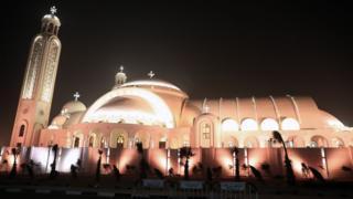 Muonekani wa kanisa kuu jimpya la coptic katika mji mkuu wa Cairo Misri