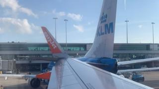 Planes collided at Schipol Airport
