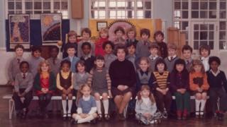 School photo featuring Steve McQueen