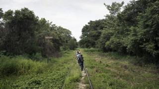 Camino a la frontera entre México y EE.UU.