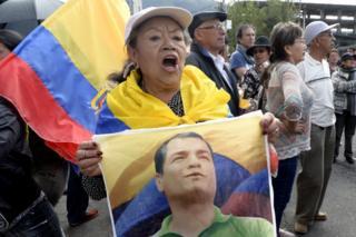Partidarios de Correa