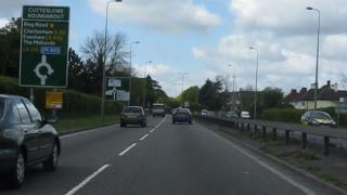 A40 approach to Cutteslowe roundabout