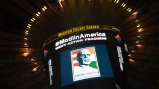 Modi sign at Madison Square Garden