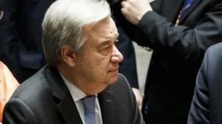 آقای گوترش در ایتدای جلسه شورای امنیت سخن میگفت که در چند روز گذشته بسیار پر تنش بوده