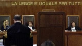 İtalyan mahkemesi arşiv fotoğrafı