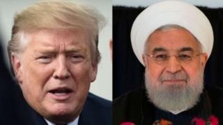 अमरीकी राष्ट्रपति ट्रंप और ईरानी राष्ट्रपति हसन रूहानी