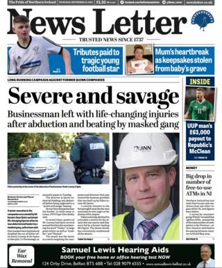 NI newspaper review: 'Savage' Quinn abduction, Tayto drama