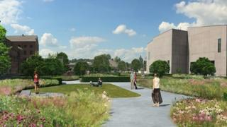 Visual impression of garden planned at Hepworth Wakefield