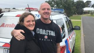 Heart attack victim Dave Watson with his wife Nicole