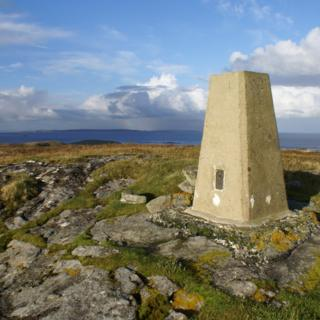Trig point on Shetland