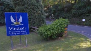 Entrance to Vinehall School