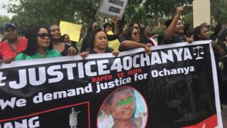Potesters for Abuja on top Ochanya Ogbaje mata