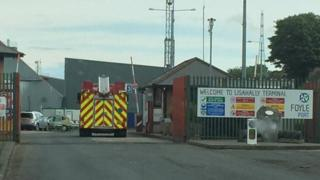 Fire engine at the Lisahally terminal