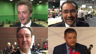 Clockwise from left: James Frith, Faisal Rashid, Chris Matheson and Mike Amesbury