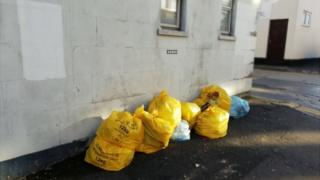 Clinical waste bags dumped in Swindon
