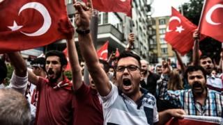 Nationalist demonstrators on streets in Turkey (8 Sept)