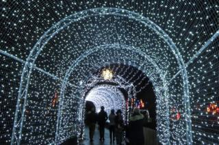Lights over a tunnel