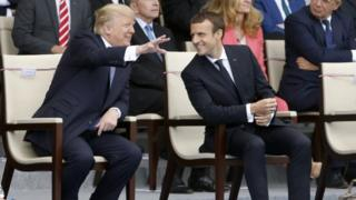 US President Donald Trump and French President Emmanuel Macron