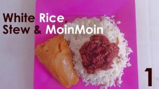 4 options of rice meals for audiences to choose from