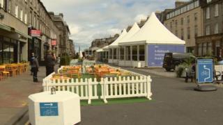 Edinburgh International Book Festival in George Street