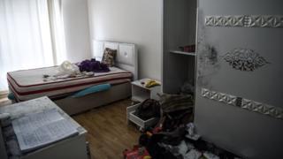 Abdülgadir Masharipov'un yakalandığı evin bir odası