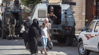 (أرشيف) قوات من الأمن المصري
