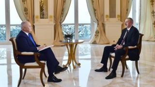 Dmitri Kiselyov və İlham Əliyev