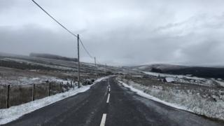 A snow scene from the road between Plumbridge and Donemana