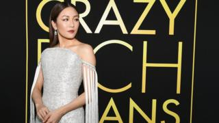 "Actress Constance Wu at premier of ""Crazy Rich Asians"" movie in California"