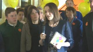 Kirsty Williams campaigning in the 2015 general election