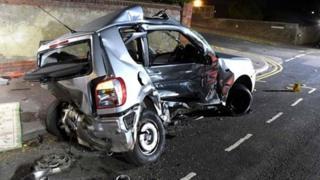 Volkswagen Polo involved in the crash