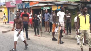in_pictures Lagos unrest