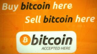 Bitcoin trading sign