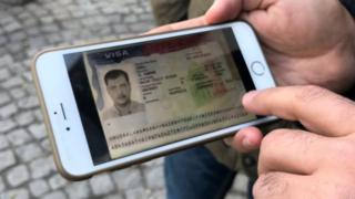 Foto de una visa estadounidense