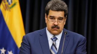 Venezuelan President Nicolás Maduro looking wistful at a news conference in Caracas