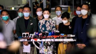 """Chính trị gia Tanya Chan (Trần Thục Trang) (giữa) nói rằng đây là """"ngày buồn thảm nhất trong lịch sử Hong Kong"""""""