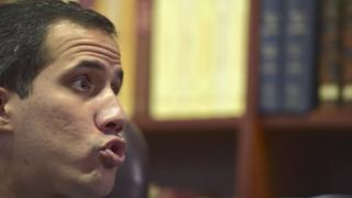 Guaido speaking in AFP interview