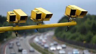 Average speed cameras on a UK motorway