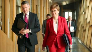 Derek Mackay and Nicola Sturgeon