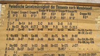 Tabla periódica hallada en la Universiad de St Andrews