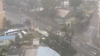 資料圖片:颱風天鴿吹襲澳門