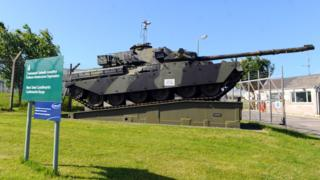 Tank at the Castlemartin Range