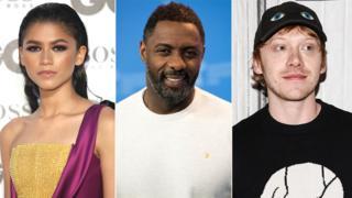 L to R: Zendaya, Idris Elba and Rupert Grint