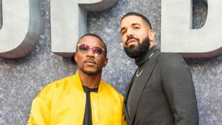 Ashley Walters and Drake at the Top Boy premiere