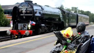 The locomotive Tornado & Sir Nicholas Winton