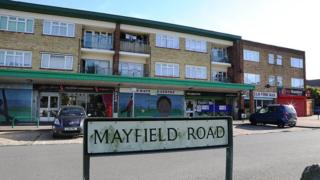 Shops on Mayfield Road in Dunstable.