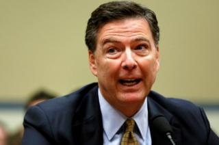 "FBI Director James Comey testifies before a House Oversight and Government Reform Committee on the ""Oversight of the State Department"" on 7 July, 2016."