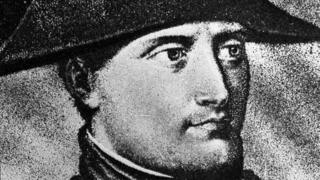 A drawing of French Emperor Napoleon Bonaparte