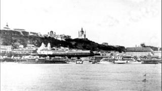 Вид на Почтовую с Труханова острова