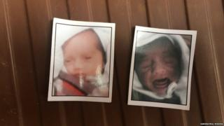 A photo of newborn twins who died at a public hospital in northern India